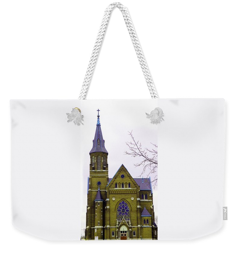 Spire Weekender Tote Bag featuring the photograph Spire by Albert Stewart