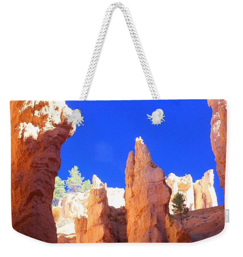 Bryce Canyon National Park Weekender Tote Bag featuring the photograph Spires by Marty Koch