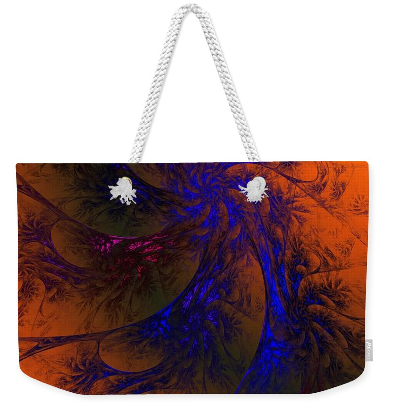 Fine Art Weekender Tote Bag featuring the digital art Spirit Dancer by David Lane