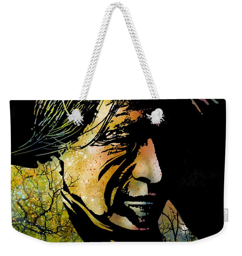 Native Americans Weekender Tote Bag featuring the painting Spirit Of The Land by Paul Sachtleben