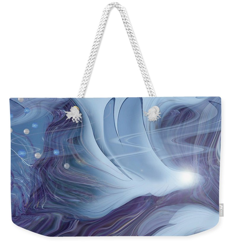 Abstract Weekender Tote Bag featuring the digital art Spirit World by Linda Sannuti