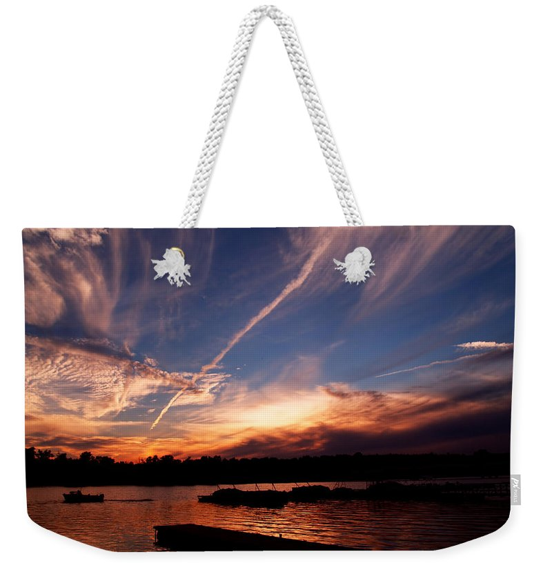 Sky Weekender Tote Bag featuring the photograph Spirits In The Sky by Gaby Swanson