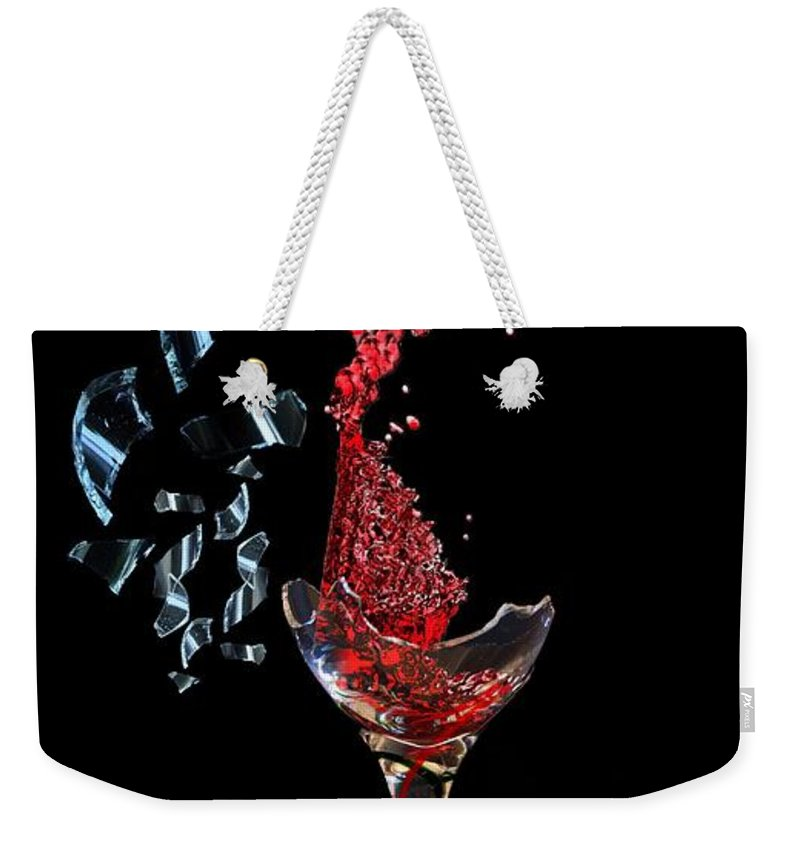 Glass Weekender Tote Bag featuring the digital art Spirits Lost by Matty Archer