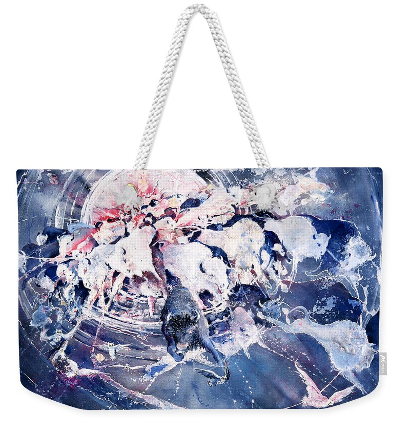 Spiritual Weekender Tote Bag featuring the painting Spirits Released by Connie Williams