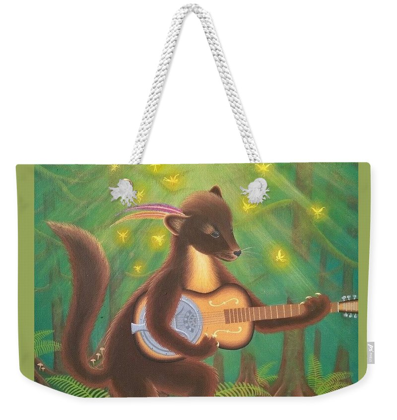 Bluegrass Weekender Tote Bag featuring the painting Spiritual Blues by Ana McIntosh