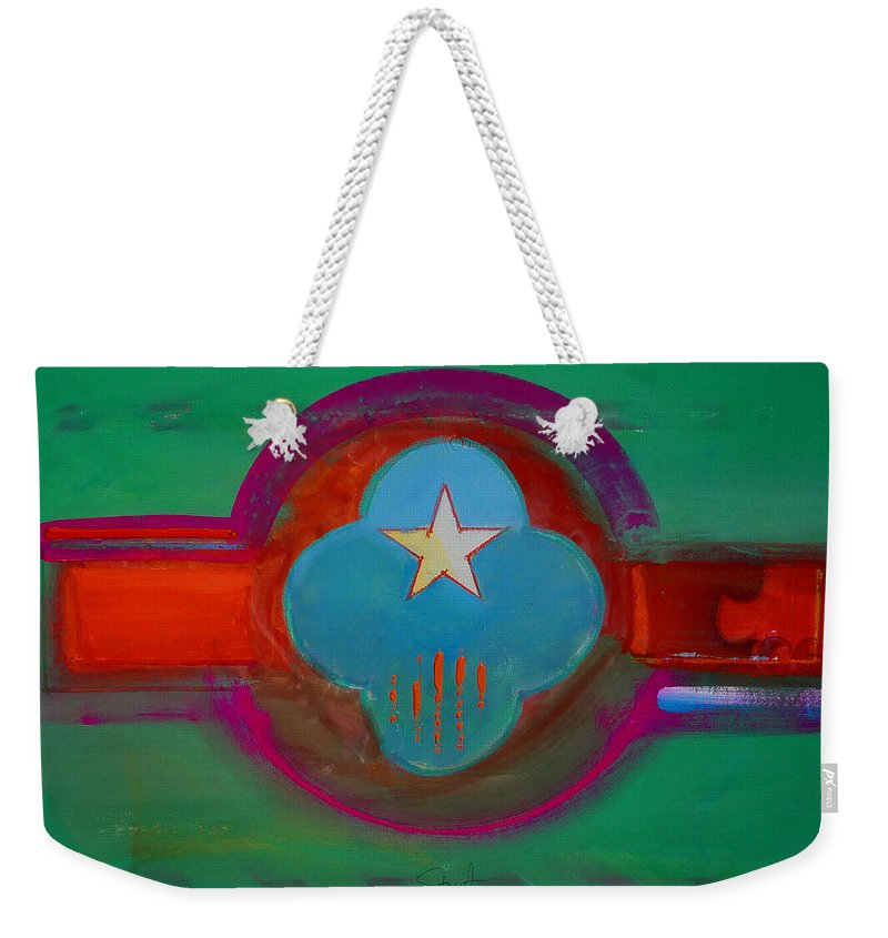 Star Weekender Tote Bag featuring the painting Spiritual Green by Charles Stuart