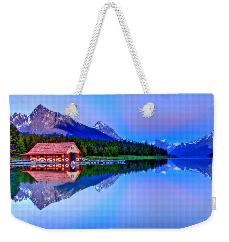 Lake Weekender Tote Bag featuring the photograph Spiritual Lake by Scott Mahon