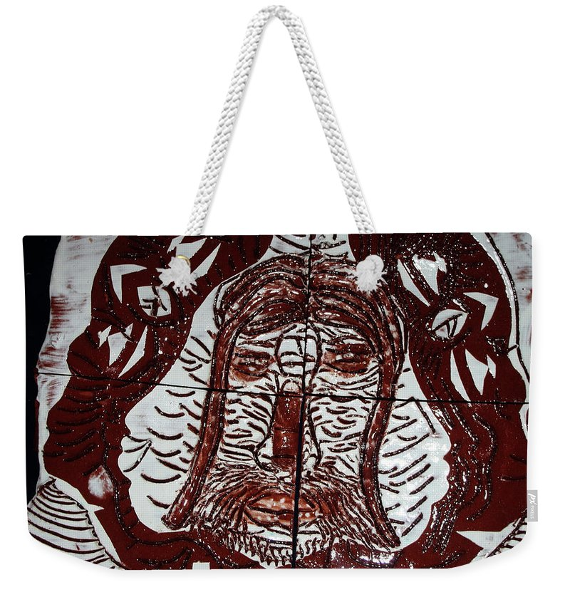 Mamamama Africa Twojesus Weekender Tote Bag featuring the ceramic art Spiritual Union by Gloria Ssali