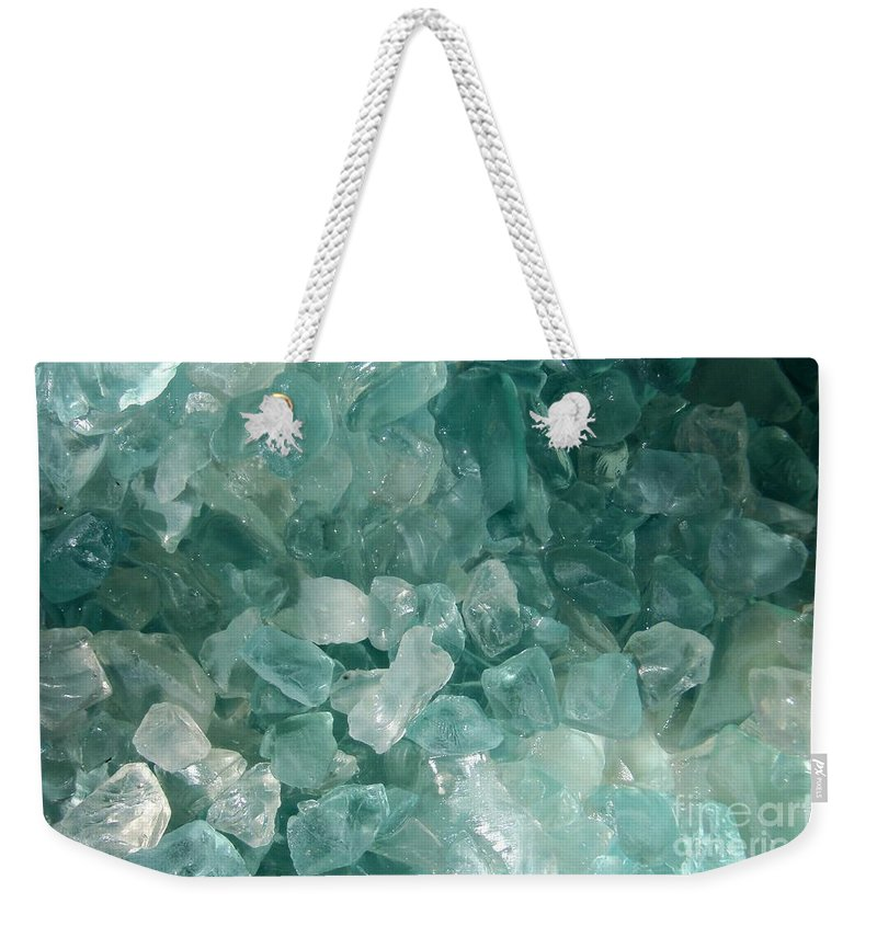 Sea Glass Teal White Ocean Weekender Tote Bag featuring the photograph Splash by Kristine Nora