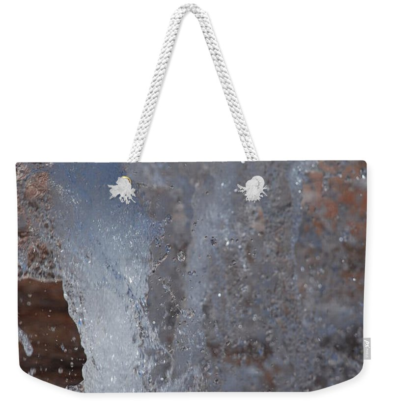 Water Weekender Tote Bag featuring the photograph Splash by Rob Hans