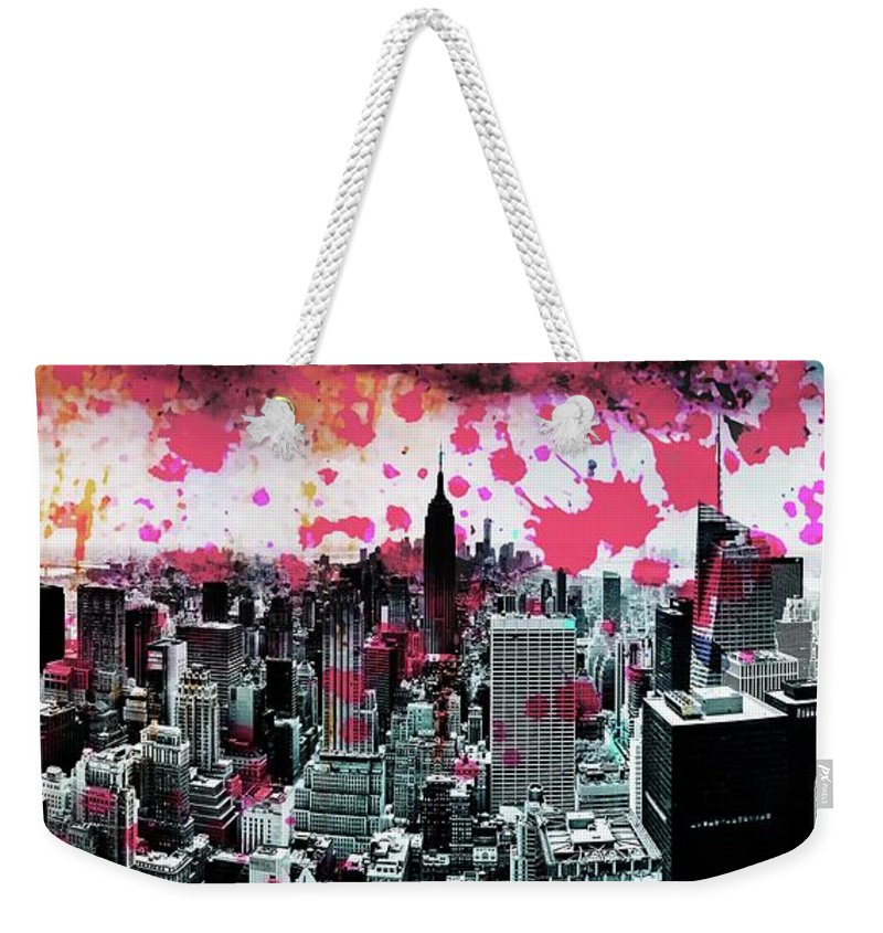 Empire State Building Weekender Tote Bag featuring the photograph Splatter Pop by Az Jackson