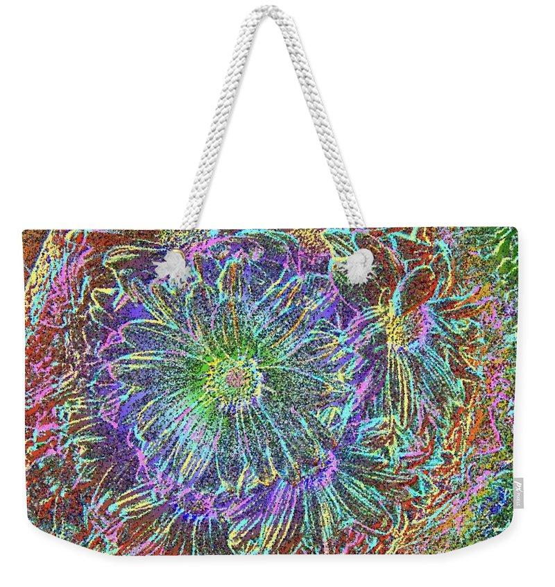 Flowers Weekender Tote Bag featuring the digital art Splendid Florish by Tim Allen