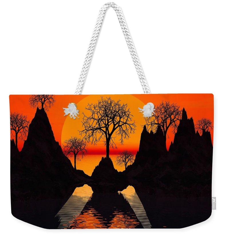Trees Weekender Tote Bag featuring the digital art Splintered Sunlight by Robert Orinski