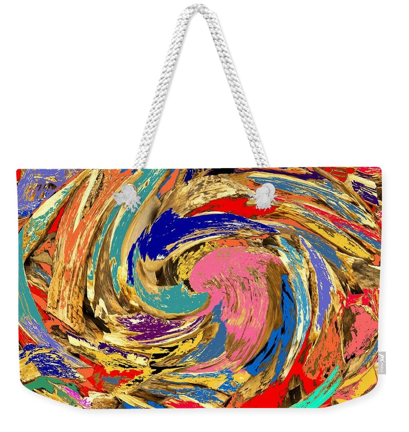 Wood Weekender Tote Bag featuring the photograph Split by Ian MacDonald