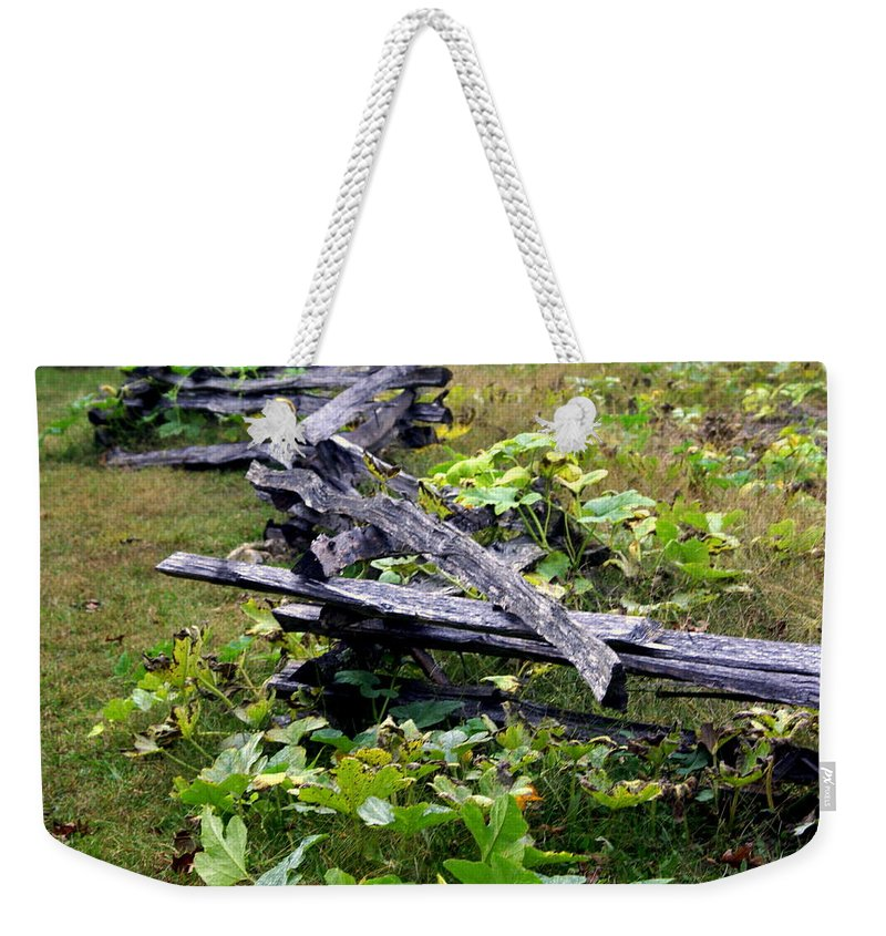 Landscape Weekender Tote Bag featuring the photograph Split Rail by Marty Koch