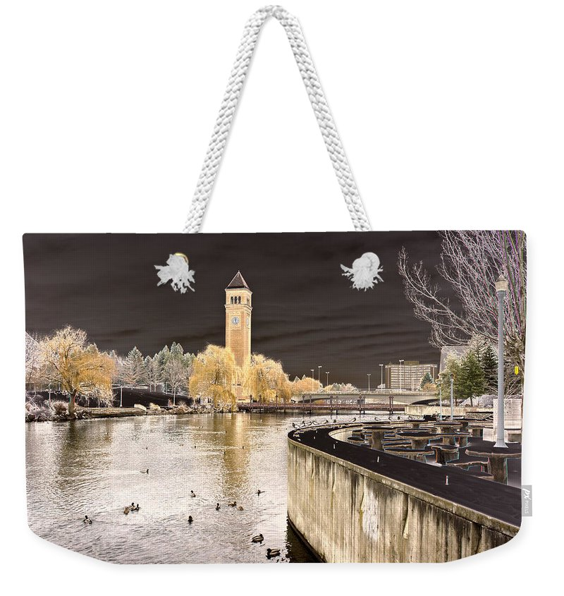 Landscape Weekender Tote Bag featuring the photograph Spokane Fantasy 2 by Lee Santa