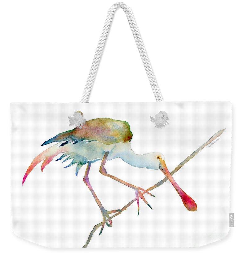 Spoonbill Weekender Tote Bags