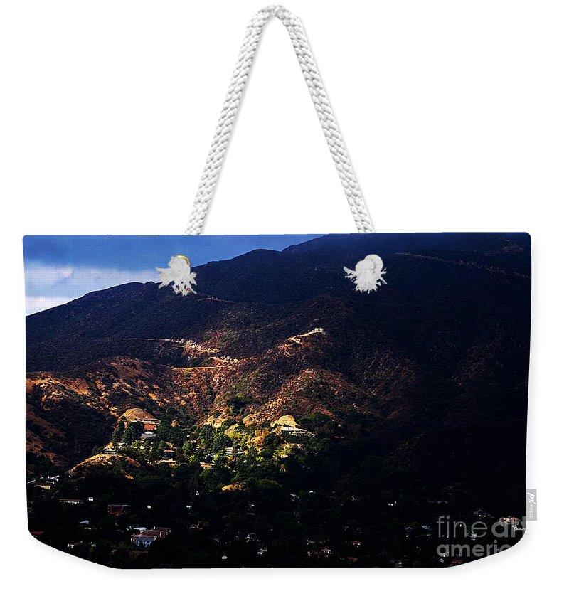 Clay Weekender Tote Bag featuring the photograph Spotlight From The Heavens by Clayton Bruster