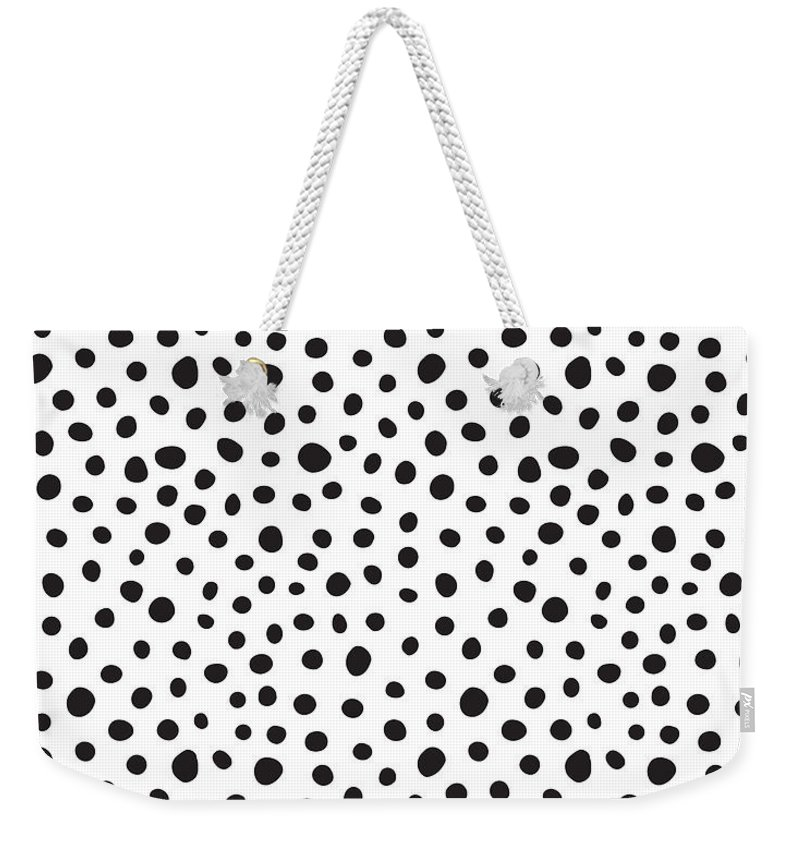 Spots Weekender Tote Bag featuring the digital art Spots by Rachel Follett