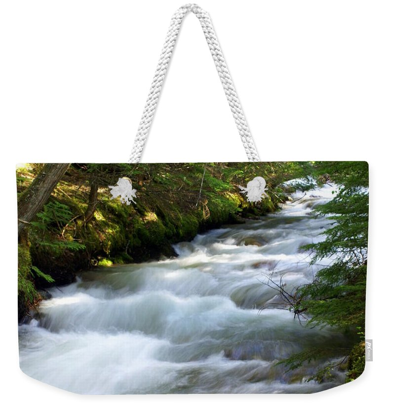 Glacier National Park Weekender Tote Bag featuring the photograph Sprague Creek Glacier National Park 2 by Marty Koch