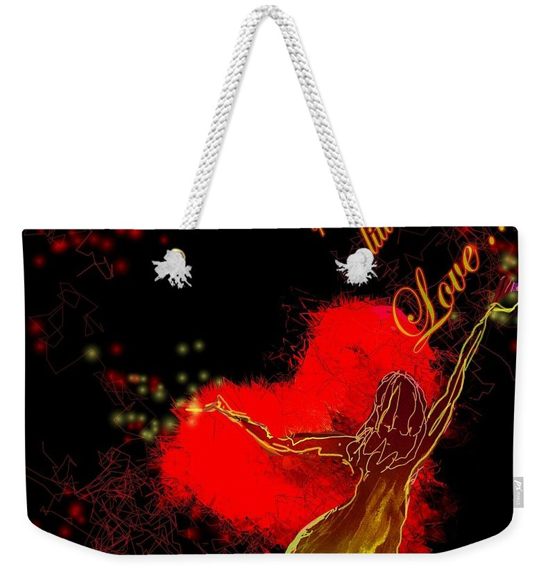 Love Weekender Tote Bag featuring the painting Spread A Little Love by Miki De Goodaboom