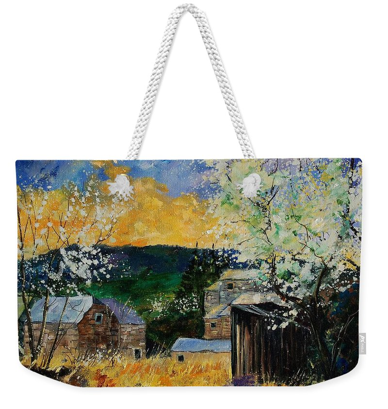 Spring Weekender Tote Bag featuring the painting Spring 45 by Pol Ledent