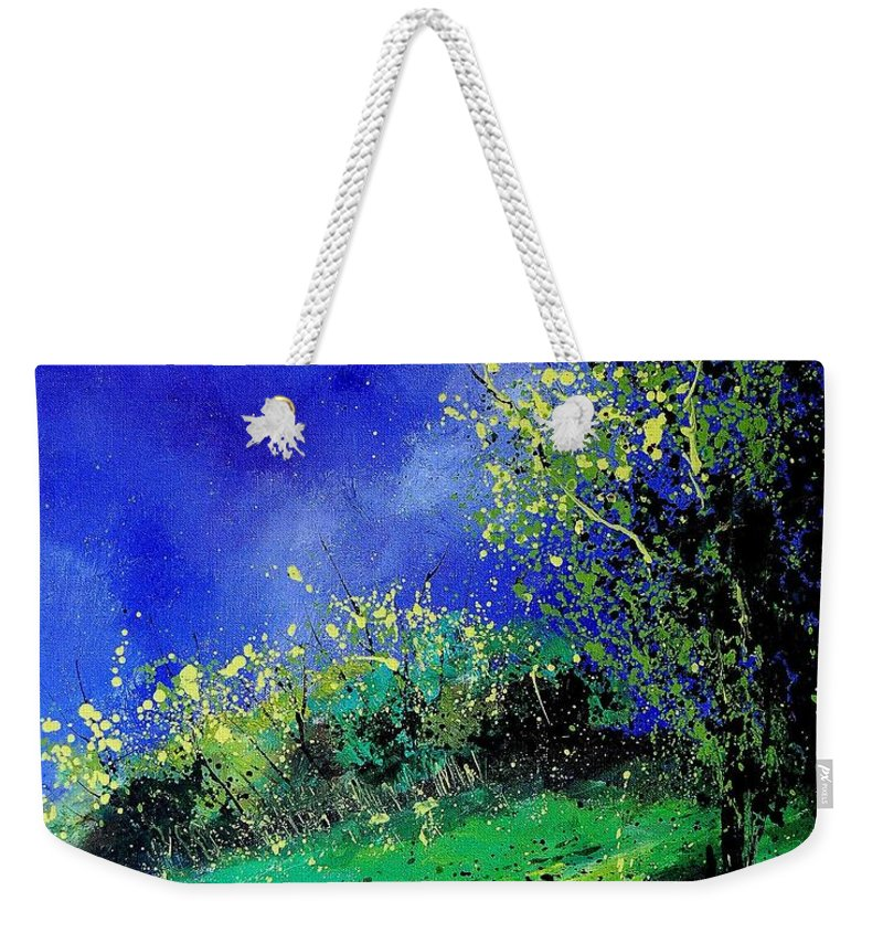 Spring Weekender Tote Bag featuring the painting Spring 459060 by Pol Ledent