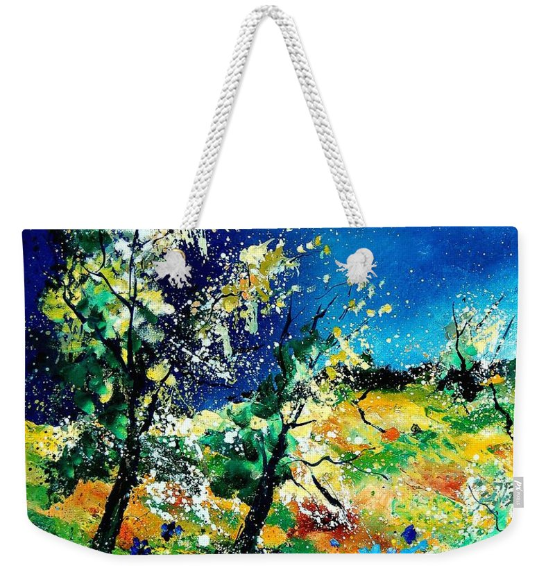 Tree Weekender Tote Bag featuring the painting Spring 56 by Pol Ledent