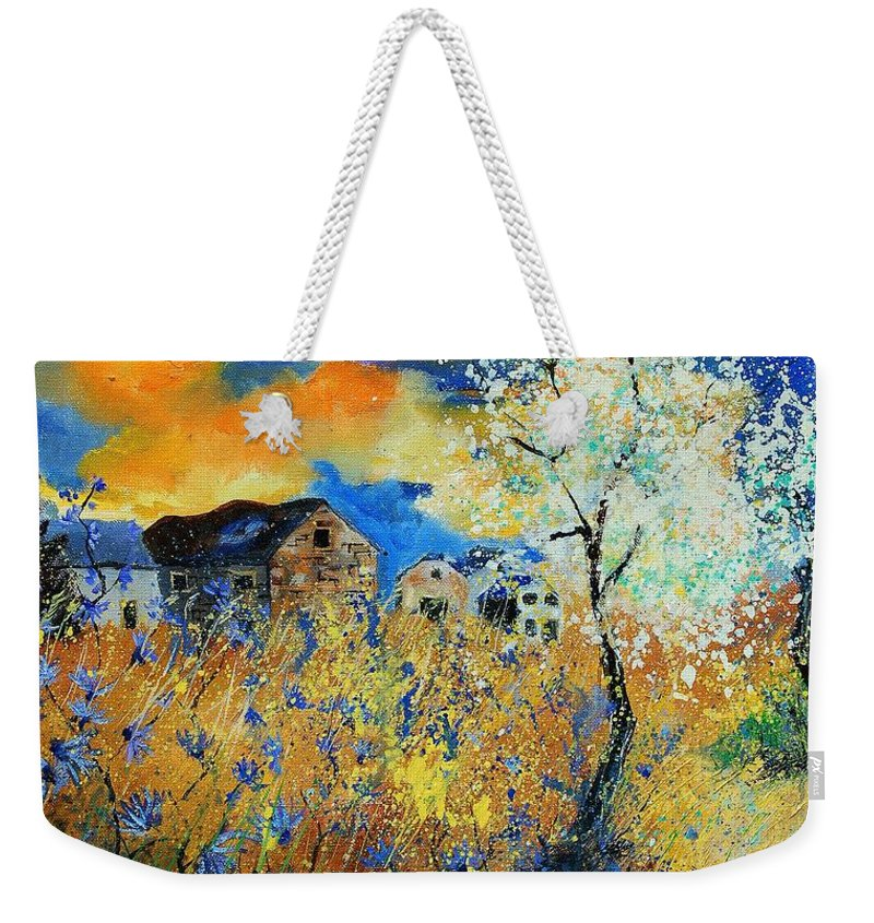 Flowers Weekender Tote Bag featuring the painting Spring 67 by Pol Ledent
