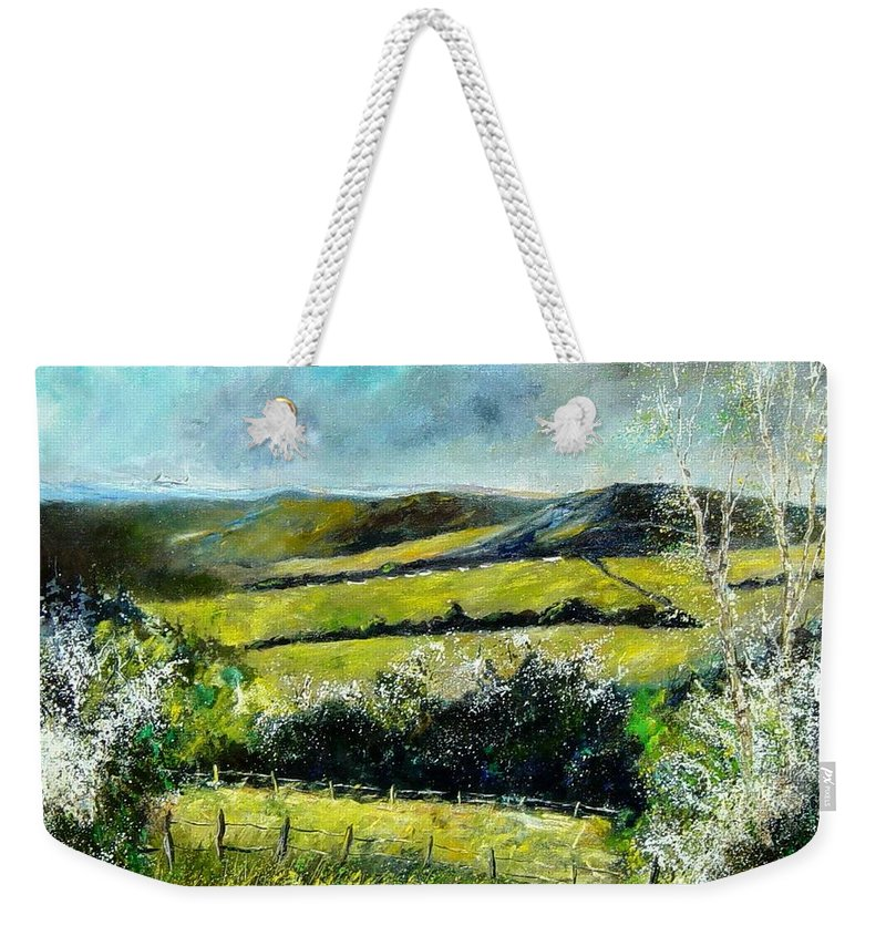 Landscape Weekender Tote Bag featuring the print Spring 79 by Pol Ledent