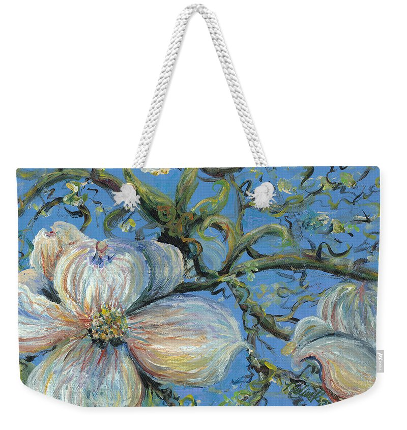 Flower Weekender Tote Bag featuring the painting Spring Blossoms by Nadine Rippelmeyer
