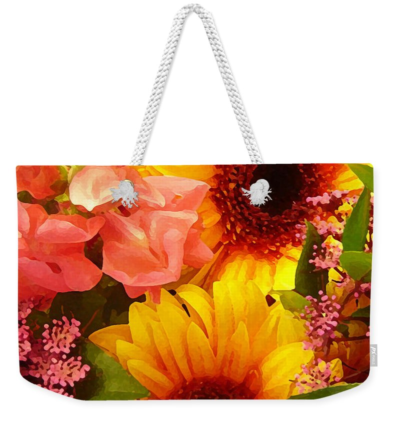 Roses Weekender Tote Bag featuring the photograph Spring Bouquet 1 by Amy Vangsgard
