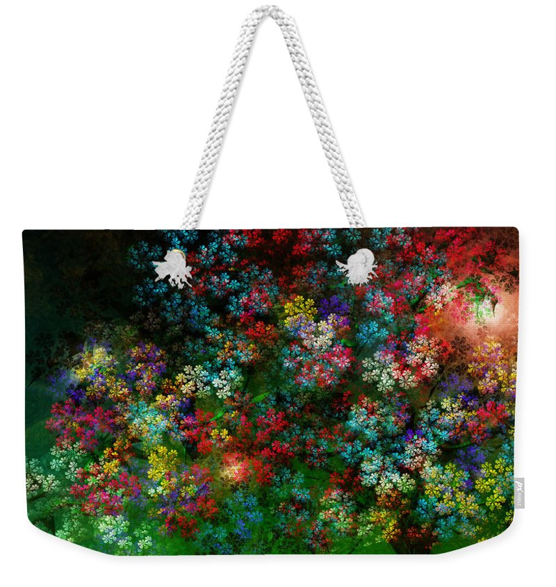 Flowers Weekender Tote Bag featuring the painting Spring Bouquet by Adam Vance