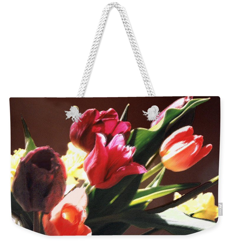 Floral Still Life Weekender Tote Bag featuring the photograph Spring Bouquet by Steve Karol
