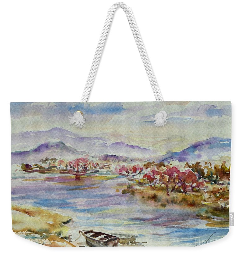 Watercolour Weekender Tote Bag featuring the painting Spring Breeze by Xueling Zou