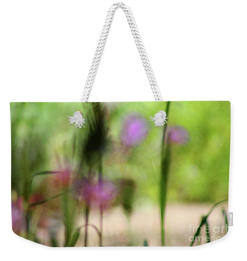 Nature Weekender Tote Bag featuring the photograph Spring Dreams Abstract by Karen Adams
