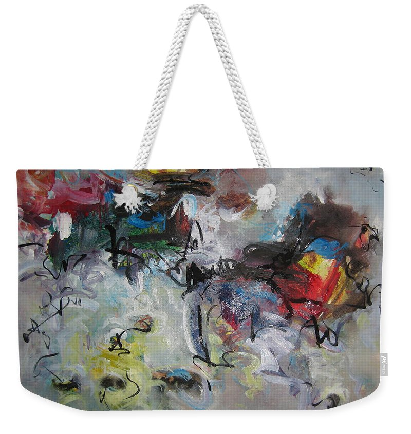 Painting Weekender Tote Bag featuring the painting Spring Fever28 by Seon-Jeong Kim