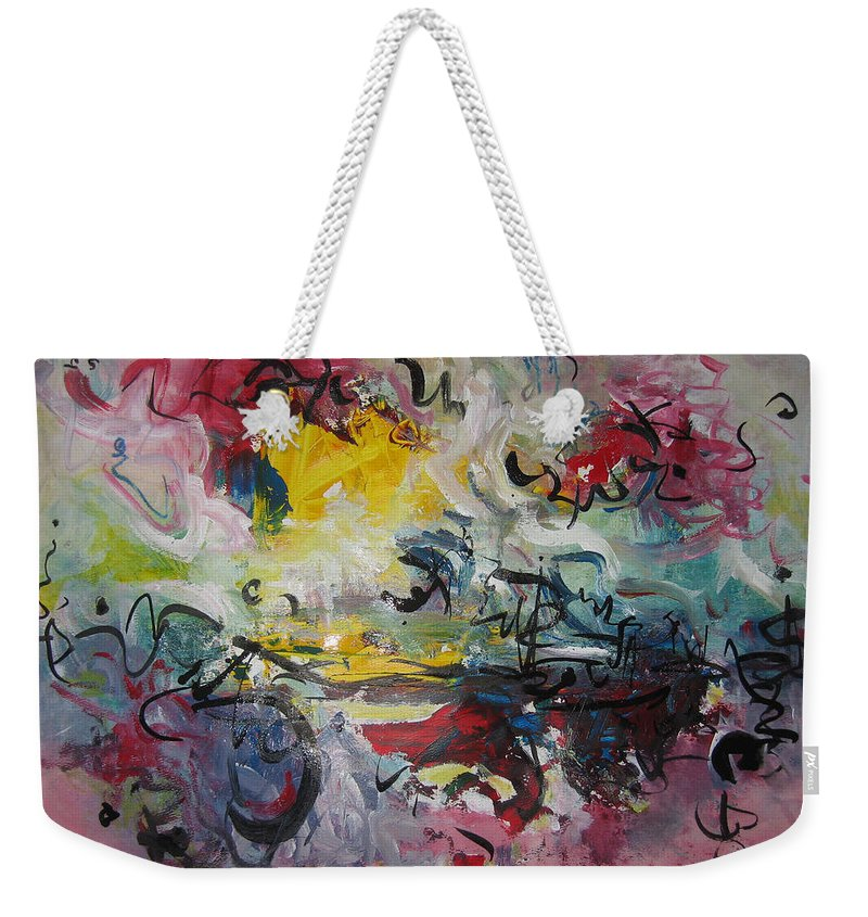 Painting Weekender Tote Bag featuring the painting Spring Fever38 by Seon-Jeong Kim