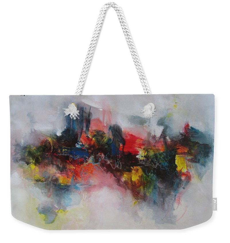 Painting Weekender Tote Bag featuring the painting Spring Fever51 by Seon-Jeong Kim