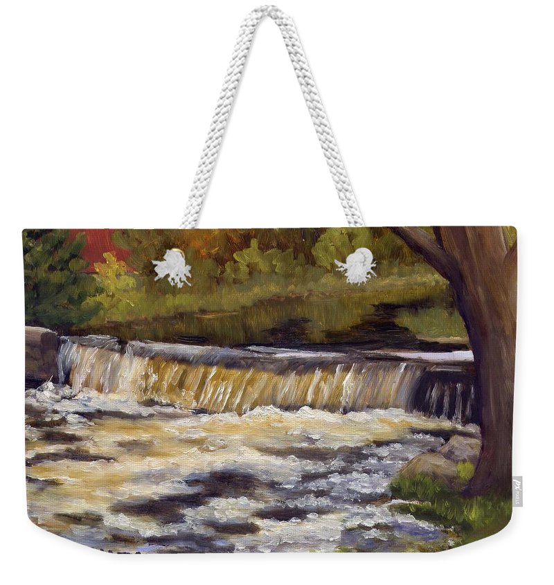 Water Weekender Tote Bag featuring the painting Spring Flow by Sharon E Allen