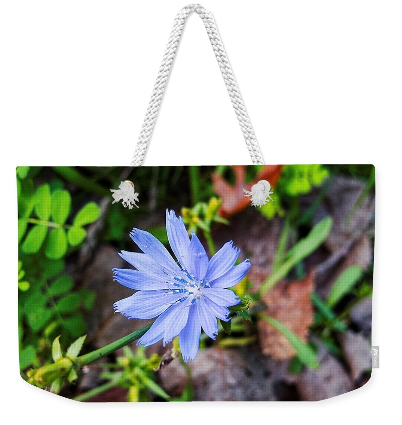 Michigan Weekender Tote Bag featuring the photograph Spring Flower by Lars Lentz
