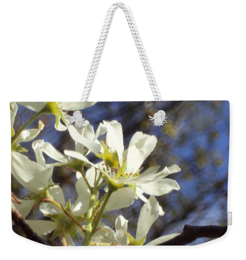 Weekender Tote Bag featuring the photograph Spring Flowers by Line Gagne