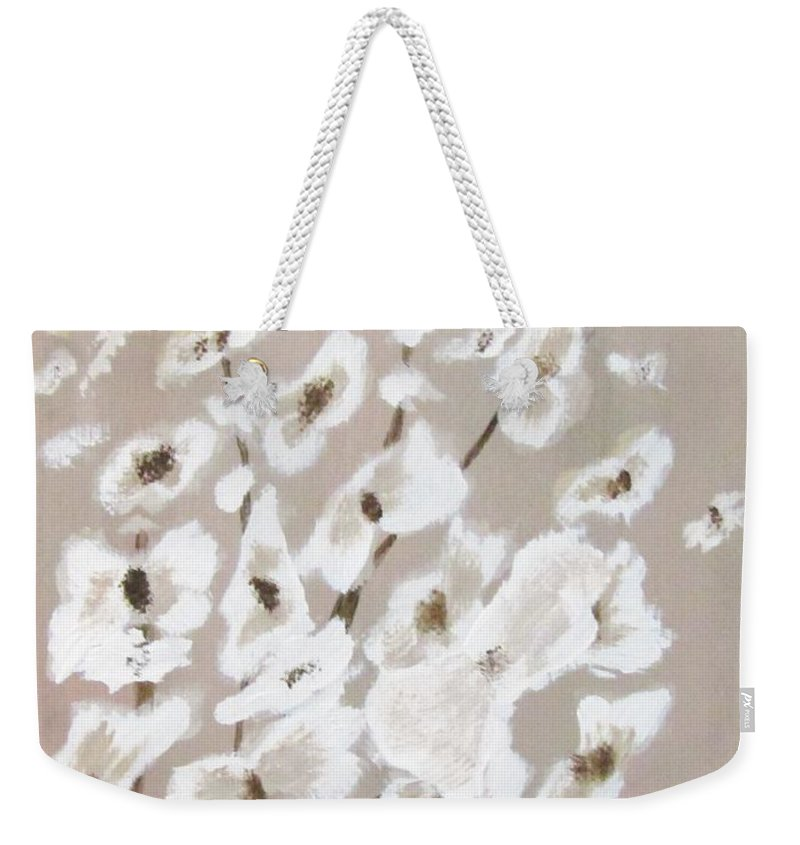 Florals Weekender Tote Bag featuring the painting Spring Flowers by Shannon Barnes