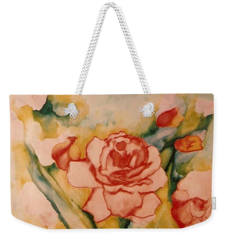 Blooms Artwork Weekender Tote Bag featuring the painting Spring Garden by Jordana Sands