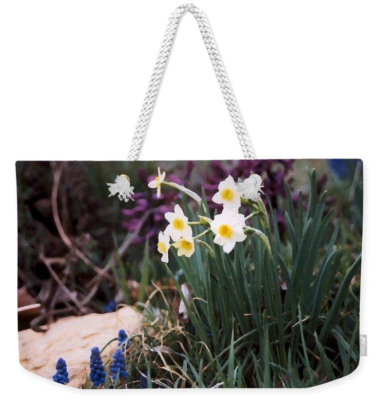 Flowers Weekender Tote Bag featuring the photograph Spring Garden by Steve Karol