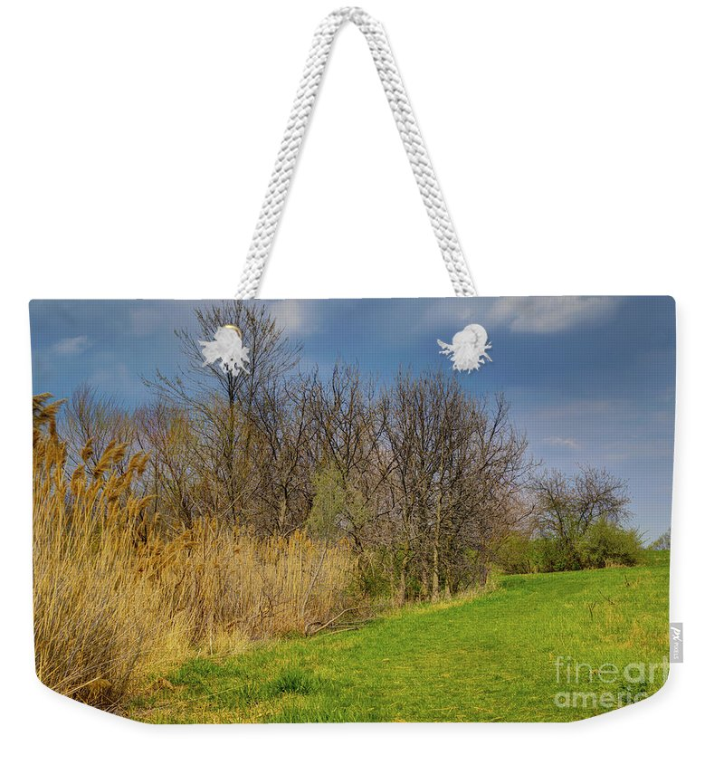 Trees Weekender Tote Bag featuring the photograph Spring Grass by Alan Look