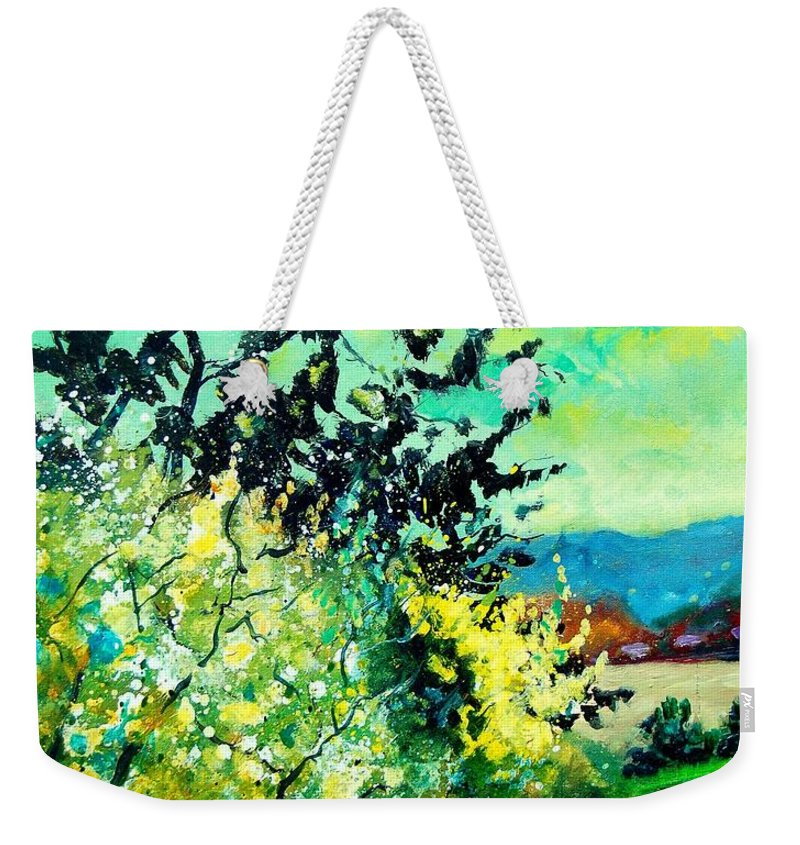 Spring Weekender Tote Bag featuring the painting spring in Ciergnon by Pol Ledent