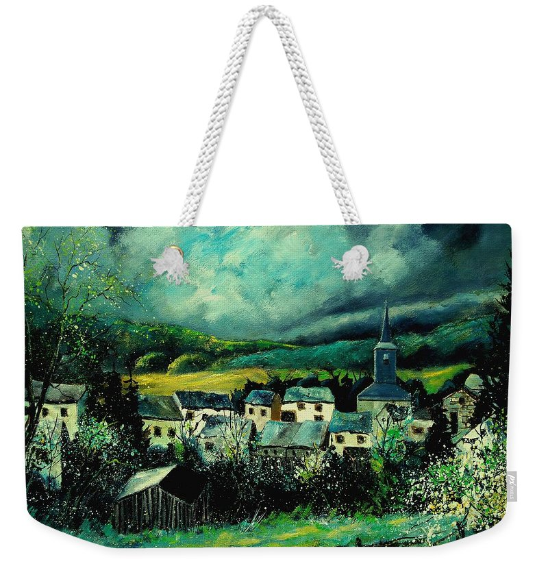 Tree Weekender Tote Bag featuring the painting Spring In Daverdisse by Pol Ledent