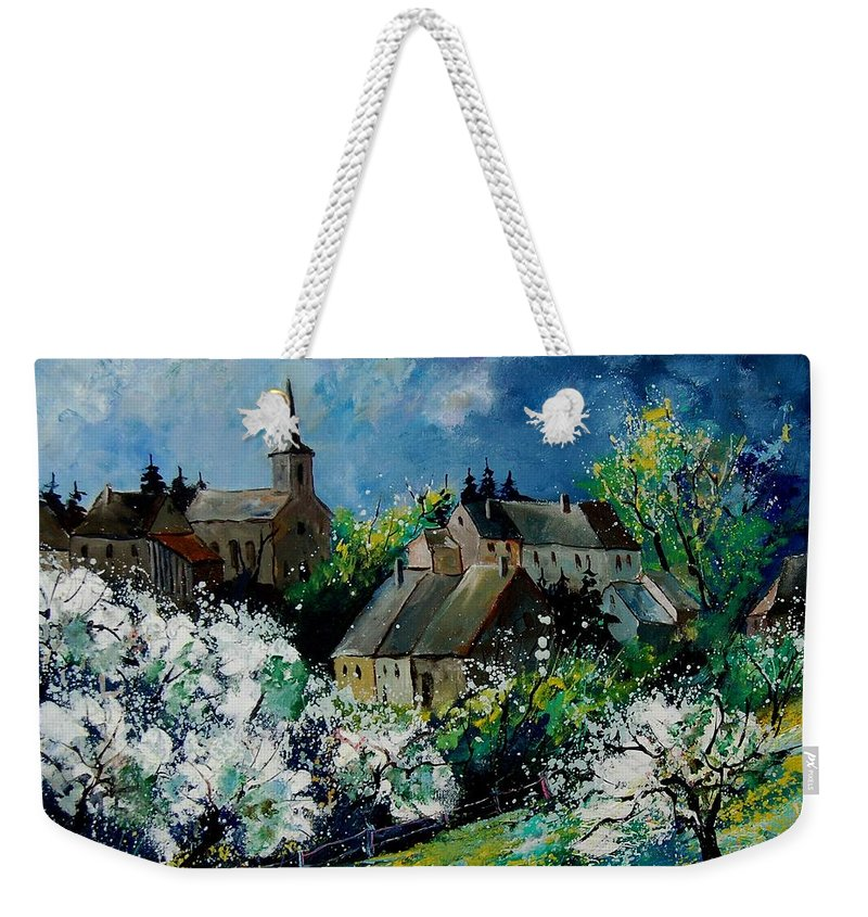 Spring Weekender Tote Bag featuring the painting Spring In Fays Famenne by Pol Ledent