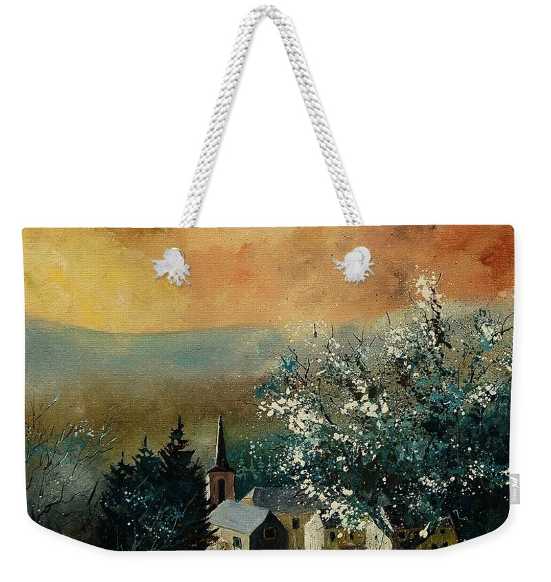 Spring Weekender Tote Bag featuring the painting Spring In Gendon by Pol Ledent